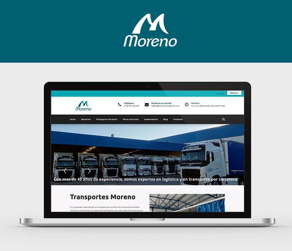 diseño web transportes moreno