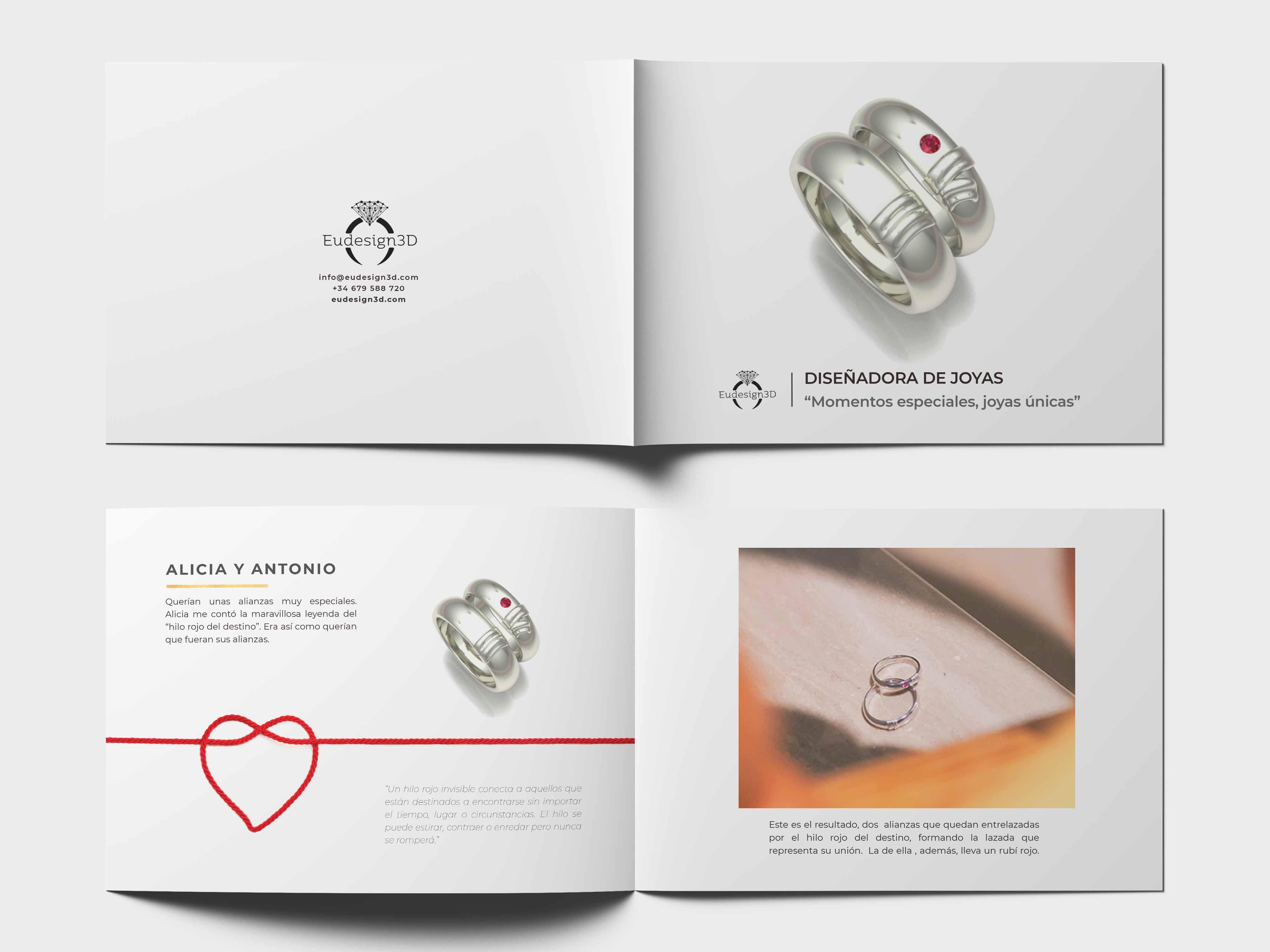 diseño de catalogo para joyeros
